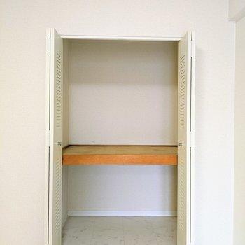 【洋室2】大容量のクローゼット。2段に分かれているのが嬉しい!