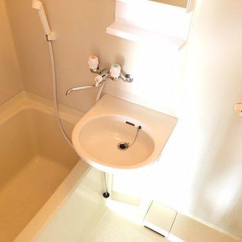 コンパクトなバスルームです。