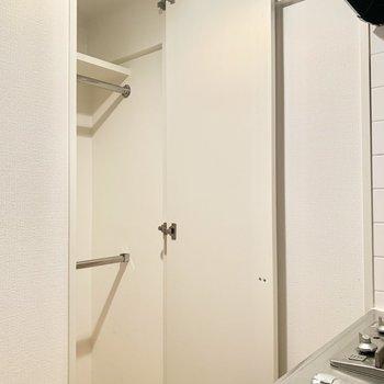 キッチンの向かい側に小さめのクローゼット。