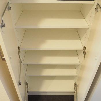 こちらの収納は靴以外のものを入れてもよさそう※写真は4階の同間取り別部屋のものです