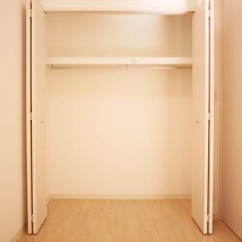 洋室のクローゼットは収納力ありそう!(※写真は2階の同間取り別部屋のものです)