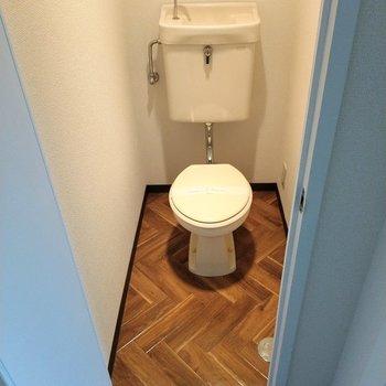 すっきり清潔なトイレ。