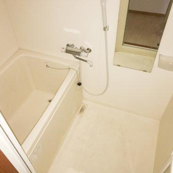 お風呂もちょうどいい大きさです。(※フラッシュを使用しています。)