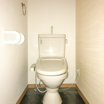 トイレもゆったりしていました。(※フラッシュを使用しています。)