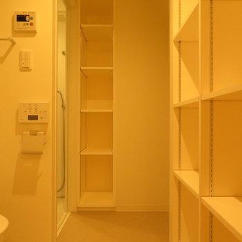 どひゃー。収納がたくさん ※別部屋写真。実際は家具家電付きです