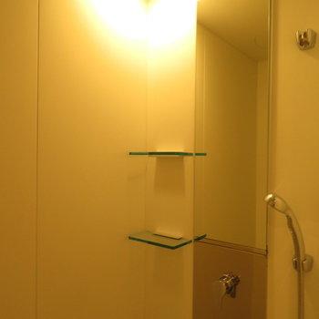シャワールームでさくっとシャワーを ※別部屋写真。実際は家具家電付きです
