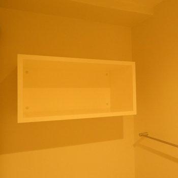 その上にはトイレットペーパーとか置けますね ※別部屋写真。実際は家具家電付きです