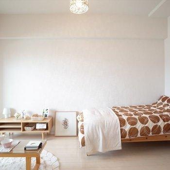 白いお部屋だから好みにあわせてアレンジ自由なんです。(※写真は7階の同間取りモデルルームのものです)