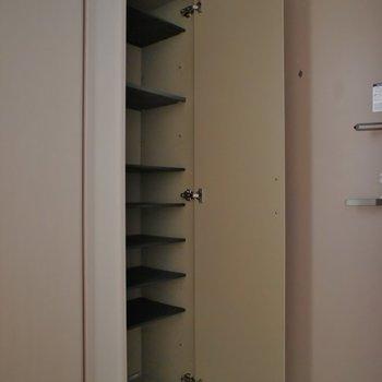 玄関は狭めですがシューズBOXは大きめ。※写真は類似のお部屋のもの