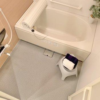 浴室はゆとりあり。バスタイムはリラックスできること間違いなし!