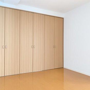 【洋室7.0帖】ここもダイナミックに収納兼壁ですね!