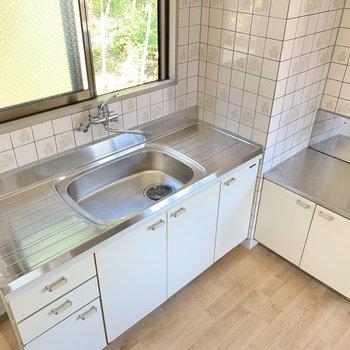 キッチンは大きめ!シンクやお料理スペースが広めなのは料理の味方!