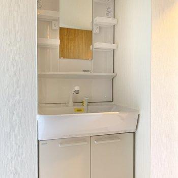 洗面台は大きめ!朝の支度もゆったりできそう◎
