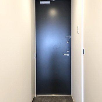 コンパクトな玄関です。