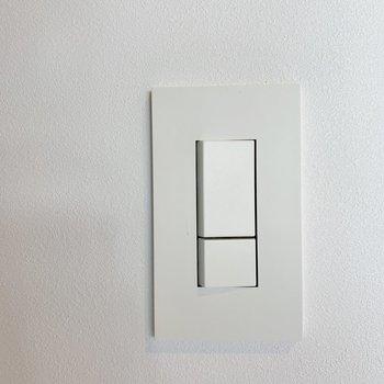 【ディティール】押し心地ソフトなスイッチ。※写真は2階の反転間取り別部屋のものです