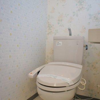 洗面所のクロスも素敵※写真は同タイプ別部屋