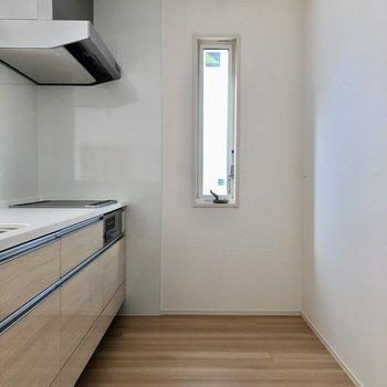 後ろにもしっかりスペースがあり、冷蔵庫も大きいの置けます。