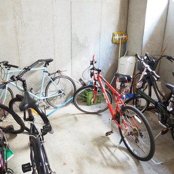 自転車置き場が嬉しい。