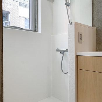 シャワーのみですが小窓で換気も。