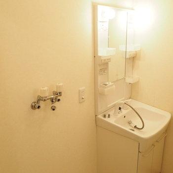 洗濯機と洗面台はここに※写真は別室です