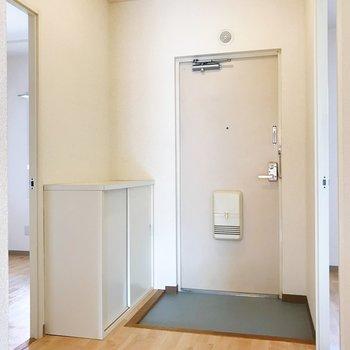 広々とした玄関。左右から洋室へ繋がります。※写真は2階の同間取り別部屋のものです