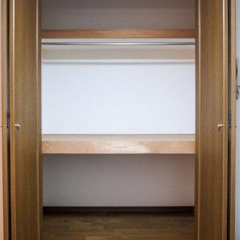 【LDK】クローゼットは超大容量!ボックスを使ってうまく活用したいです。