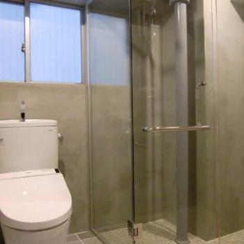 シャワールームは海外ホテルのよう