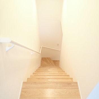 2階にあがりました。