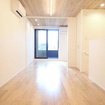 向こうの洋室は扉で区切れます。
