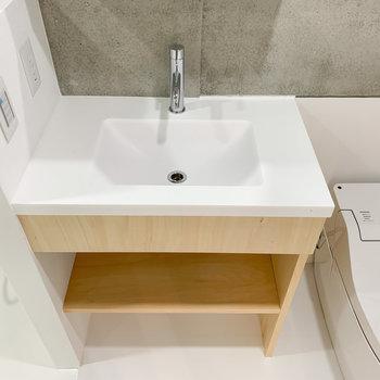 シンプルだけど可愛い洗面台。※写真は前回募集時のものです