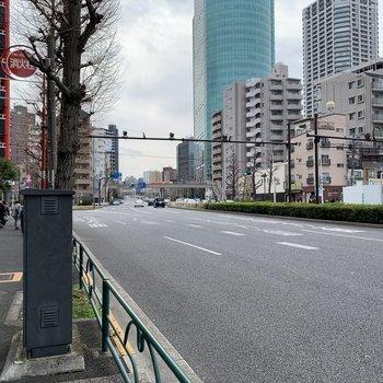 駅付近は大通りとなっています。