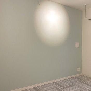 アクセントクロス側にテレビが置けますね※写真は3階の同間取り別部屋のものです