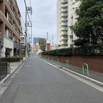 歩いてる途中に東京タワーも見えました!