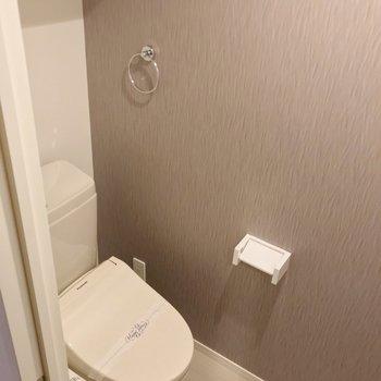 トイレはウォシュレット付きで快適です。
