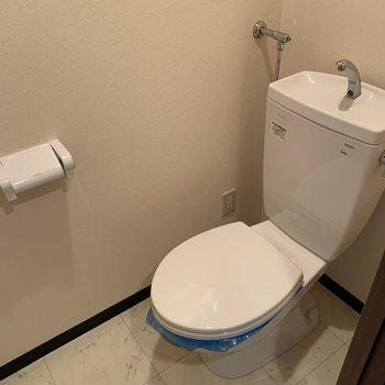 おトイレは程よいスペースです。ウォシュレットはありませんよ〜