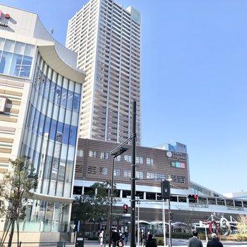 武蔵小杉駅に到着です。駅直結の商業施設もあるので、休日にショッピングもいいなあ。