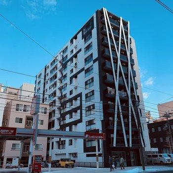 スタイリッシュなデザインのしっかりしたマンション