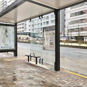 近くには渋谷駅行きのバス停がありました。