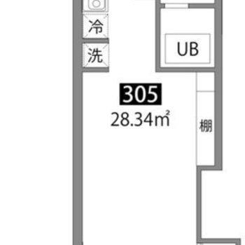 洋室の真ん中で仕切ることができるお部屋です。