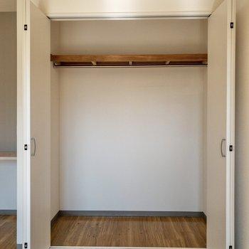 【洋室】クローゼットは大容量です。