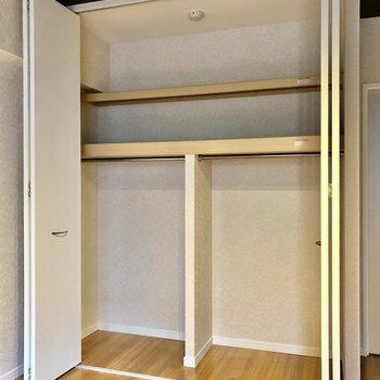 容量も大丈夫かな!でも、荷物多い方は棚やラックを活用して魅せる収納も素敵だな。