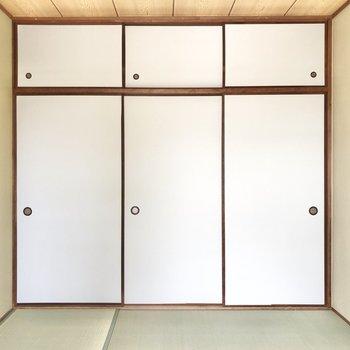 和室にはやっぱり襖がしっくりくるなあ。※写真は4階同間取り別部屋のお写真です。