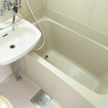 浴槽は大きめなのです(※写真は2階の同間取り別部屋のものです)