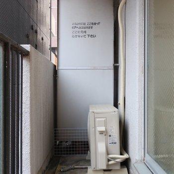 バルコニーは普通サイズ(※写真は2階の同間取り別部屋のものです)