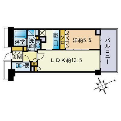 ザ・パークハウス福岡タワーズWEST の間取り