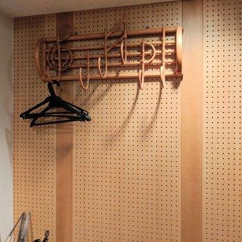 音符の可愛いフック※写真は4階の同間取り別部屋のものです