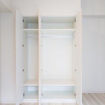 居室のクローゼットもたっぷり使えて幸せ。※写真は3階の同間取り別部屋のものです