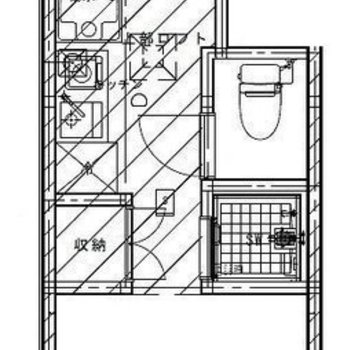 ※ 写真は2階の反転間取り別部屋のものです