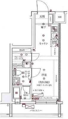 スパシエソリデ横浜鶴見 の間取り