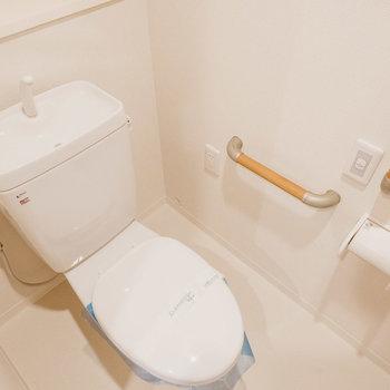 トイレは手すりもあって優しい設計。
